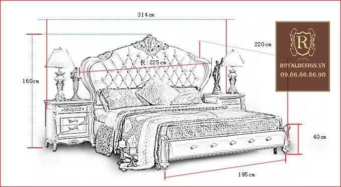 Giường Ngủ Tân Cổ Điển 002-13