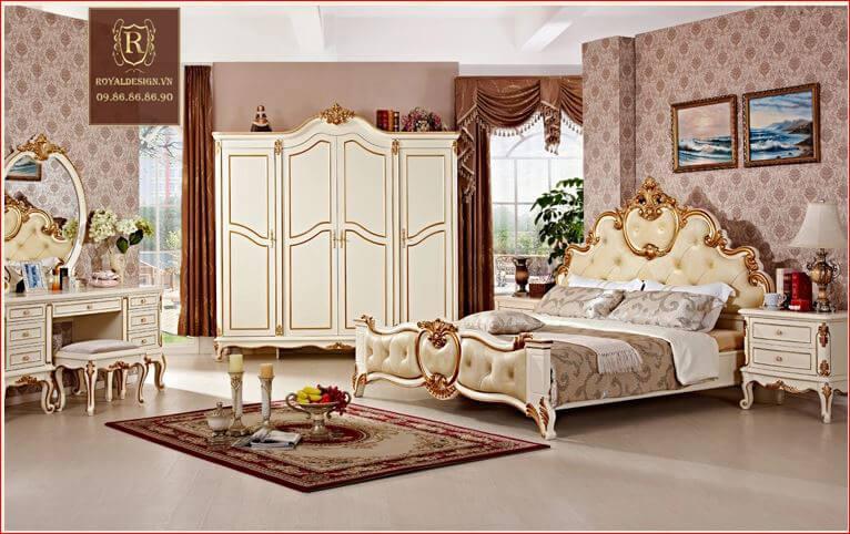Giường Ngủ Tân Cổ Điển 003-3