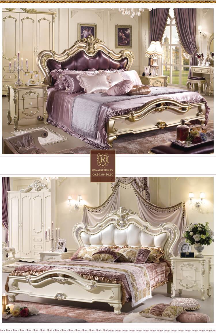 Giường Ngủ Tân Cổ Điển 011-3