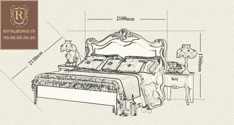 Giường ngủ Tân Cổ Điển 015-10