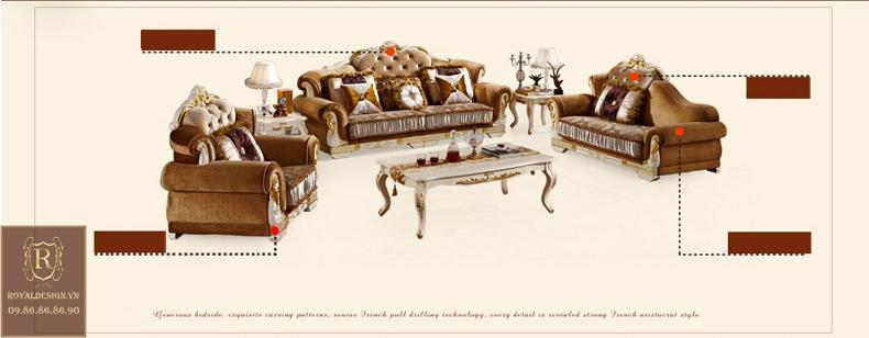 Sofa Tân Cổ Điển 022-7