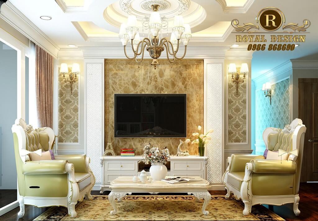 Ghế sofa tân cổ điển 032 gỗ sồi bọc da hàn quốc màu vàng chanh