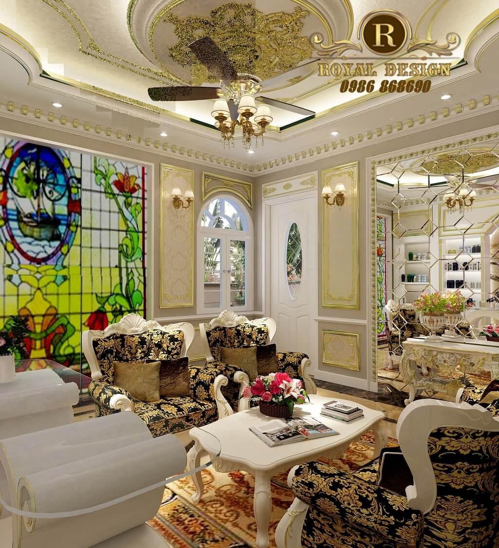 Góc nhìn thiết kế bộ sofa tân cổ điển cho spa milan