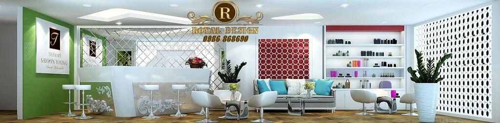 Lấy tông màu sáng làm chủ đạo, spa thẩm mỹ viện sài gòn được lên thiết kế hiện đại, sang trọng