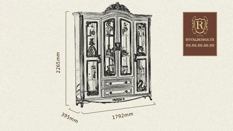 Tủ rượu Tân Cổ Điển 001-11