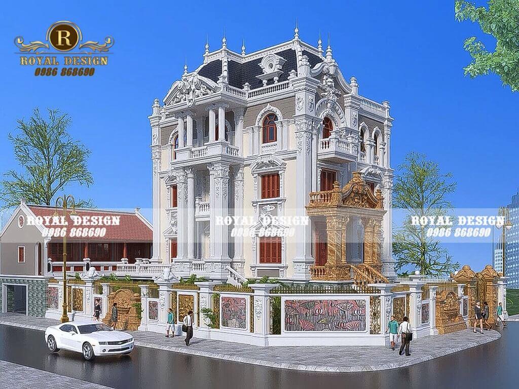 biệt thự kiểu Pháp 3 tầng cổ điển