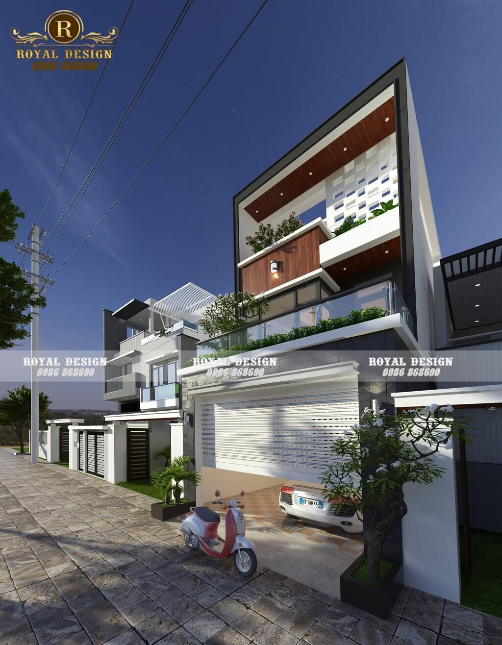 Kiến trúc nhà phố 3 tầng hiện đại
