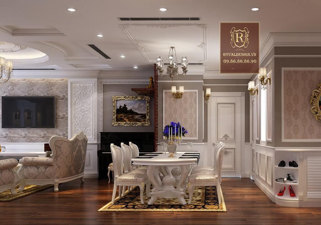 Không gian bếp tân cổ điển