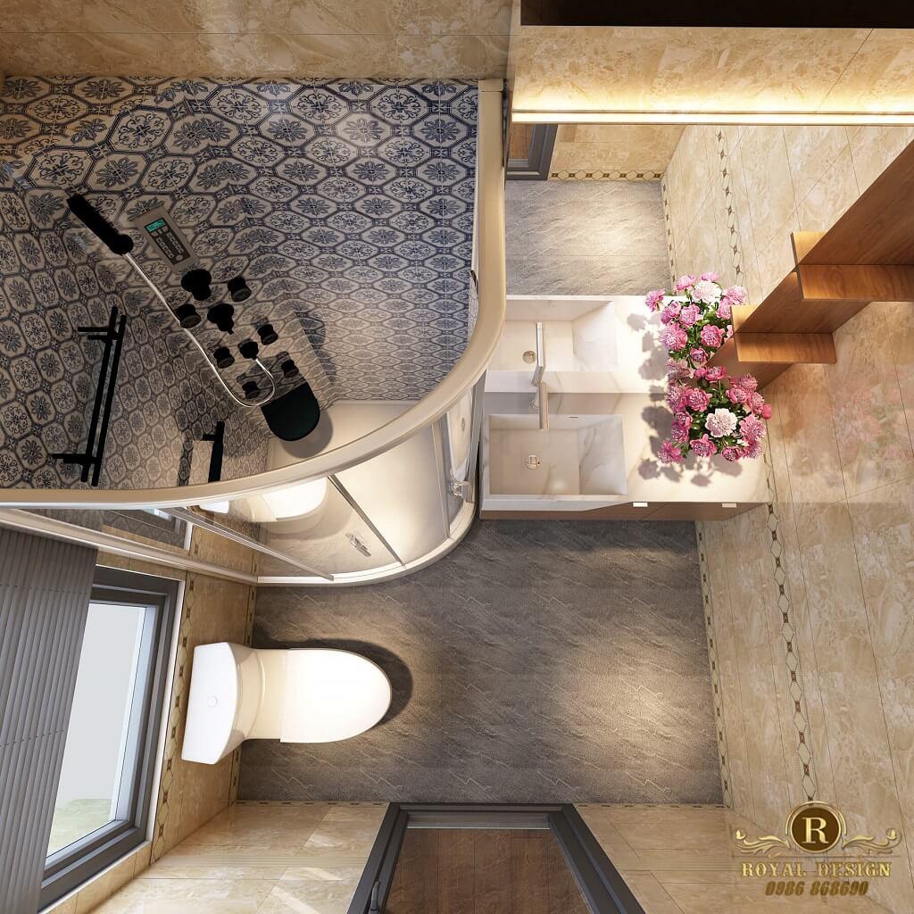 Phòng vệ sinh ngăn vách kính