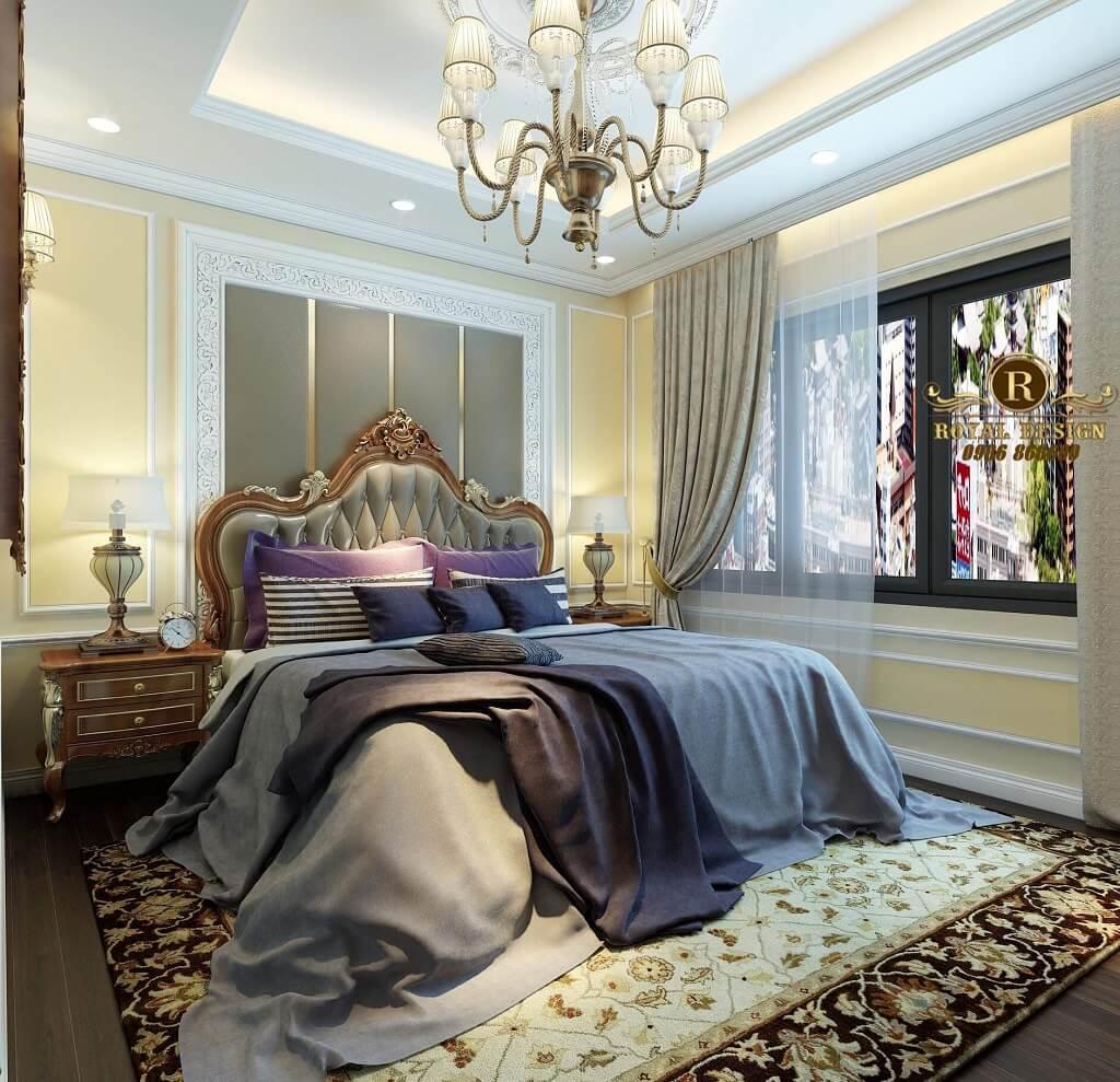 Phối cảnh thiết kế nội thất phòng ngủ master