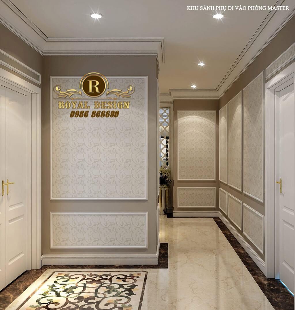 Khu sảnh phụ đi vào phòng master