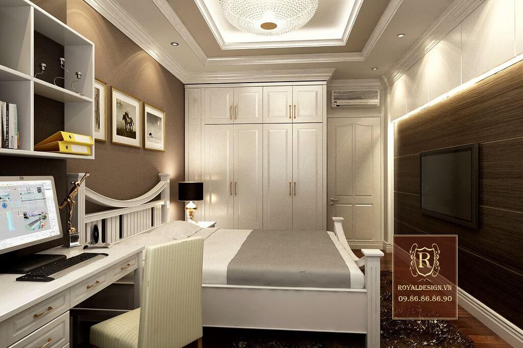 giường ngủ màu trắng hiện đại