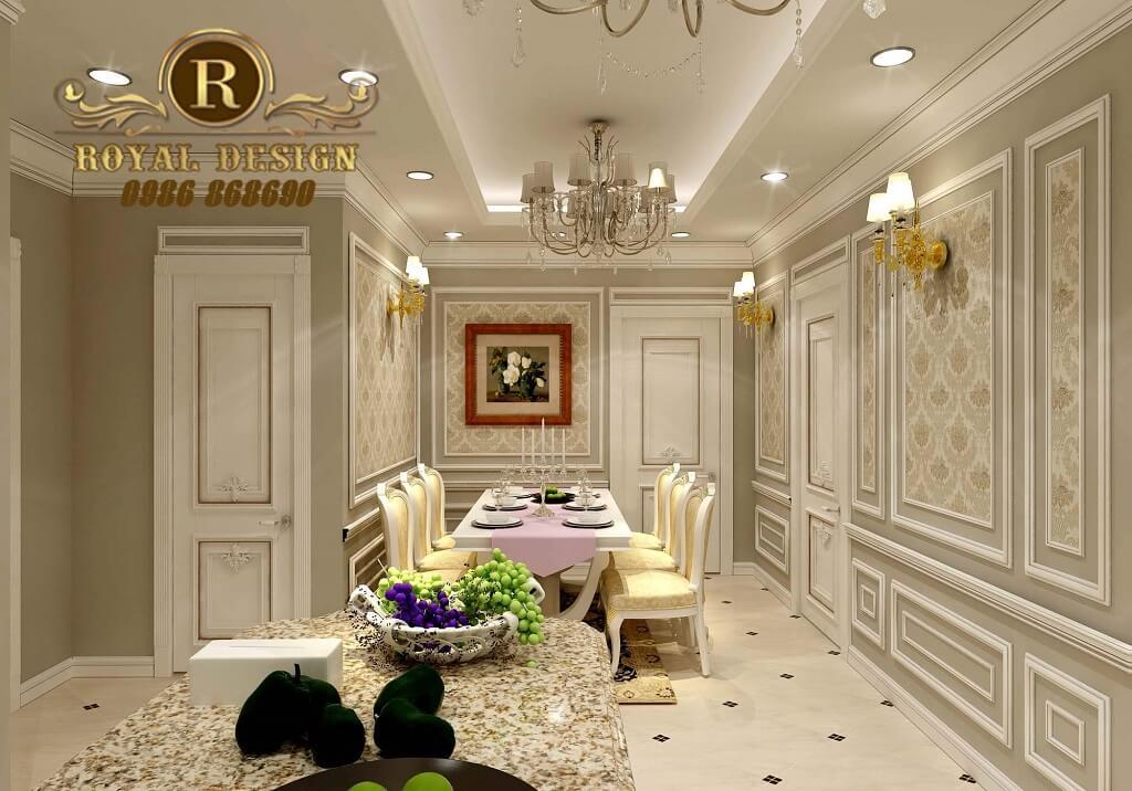 Tủ bếp phong cách cổ điển