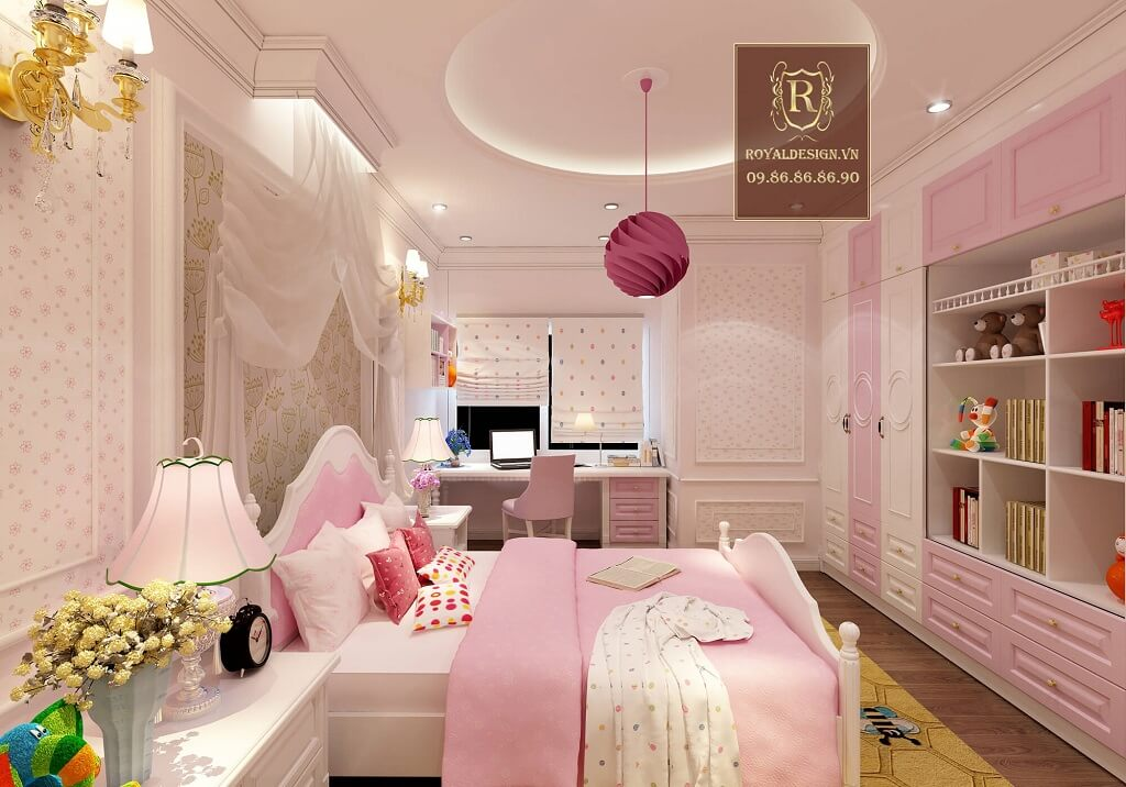 Thiết kế phòng ngủ bé gái công chúa
