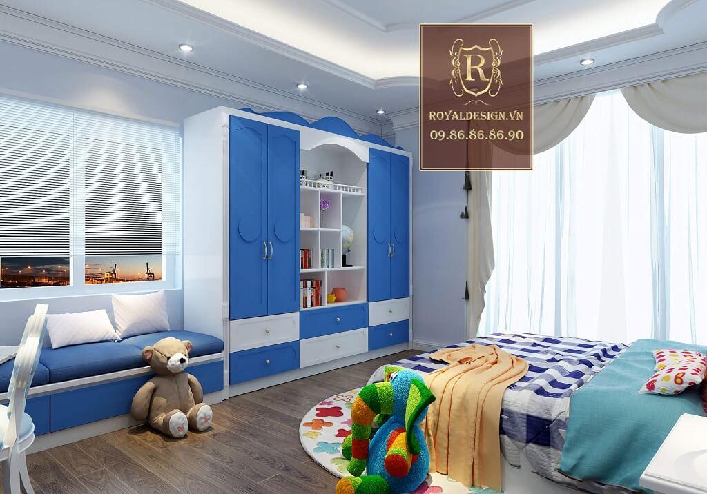 Phòng ngủ tân cổ điển cho bé trai