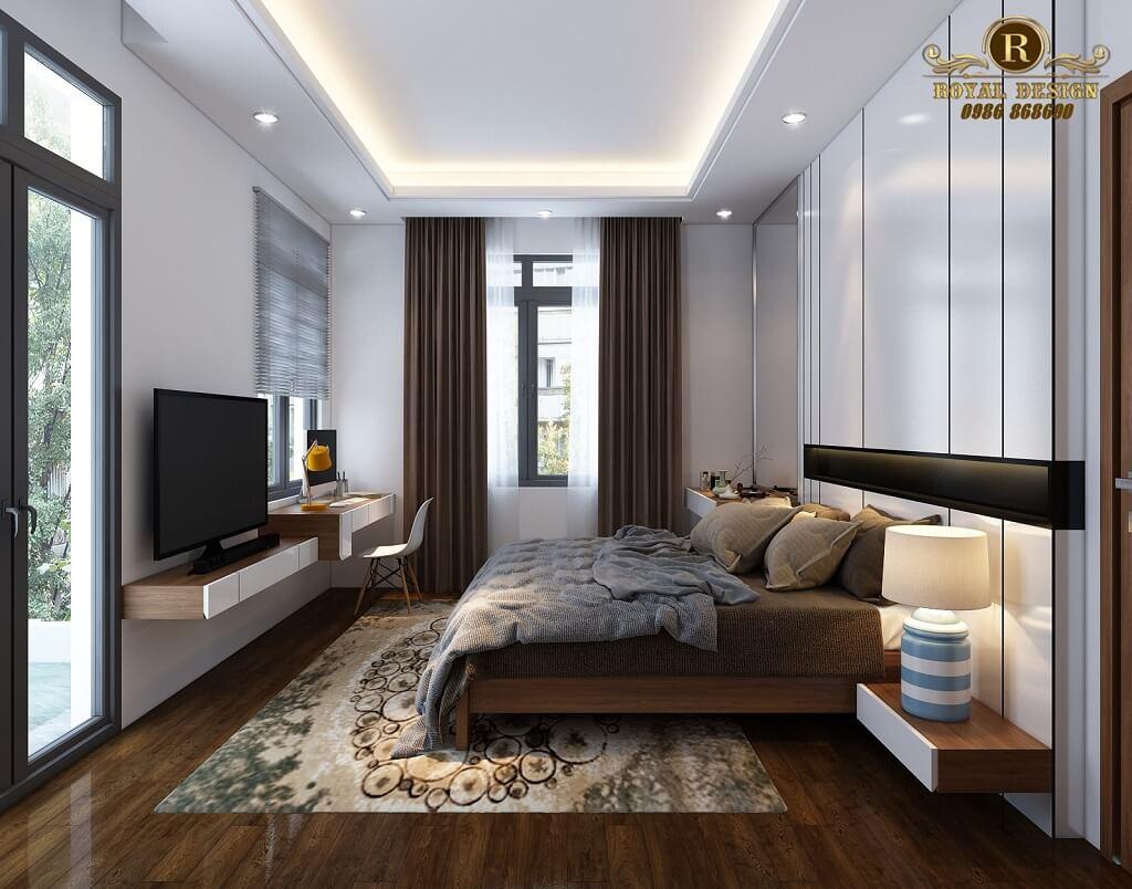 Phối cảnh 3D thiết kế nội thất tầng 2 phòng master02