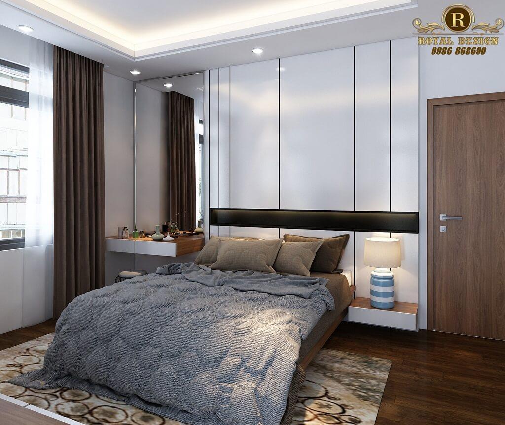 Phối cảnh 3D thiết kế nội thất tầng 2 phòng master