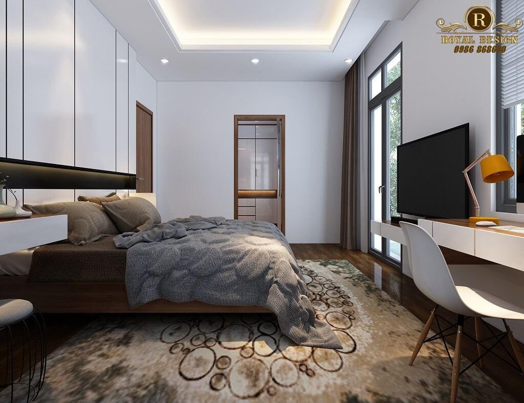 Phối cảnh 3D thiết kế nội thất tầng 2 phòng master01