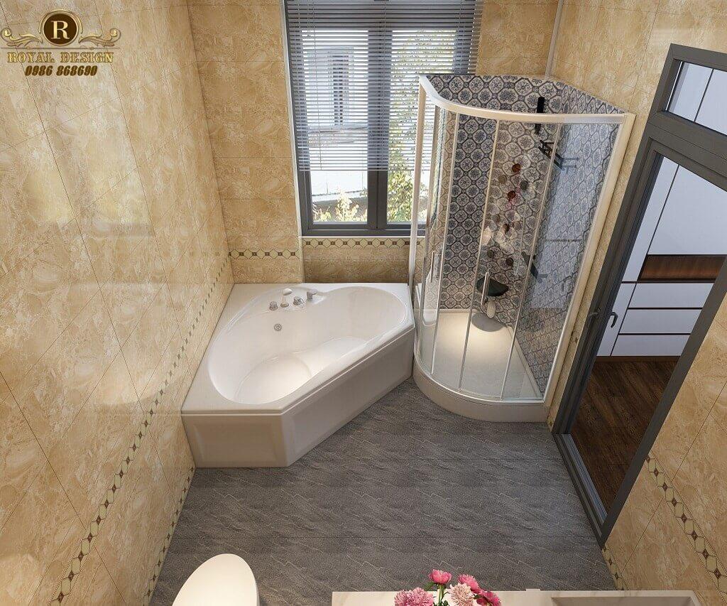 Phối cảnh 3D thiết kế nội thất tầng 2 phòng wc master01