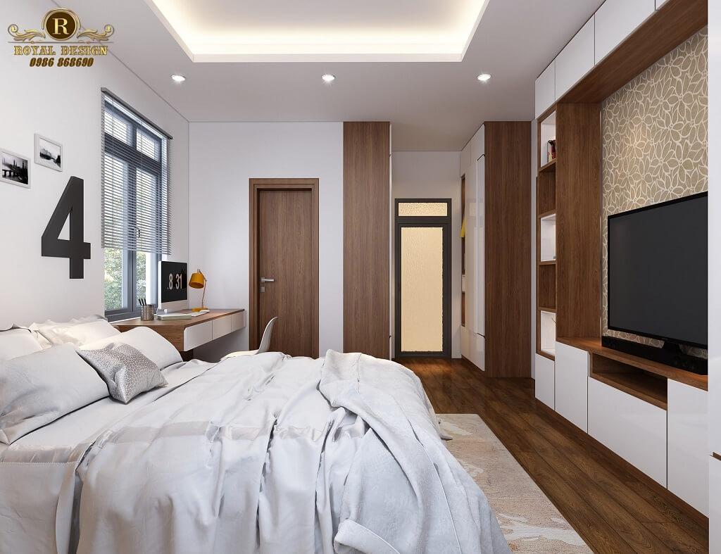 Phối cảnh 3D thiết kế nội thất tầng 2 phòng ngủ con