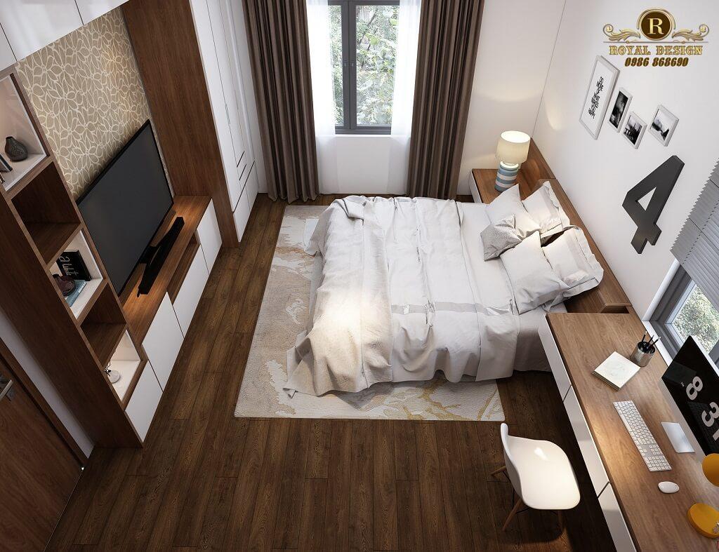Phối cảnh 3D thiết kế nội thất tầng 2 phòng wc ngủ con01