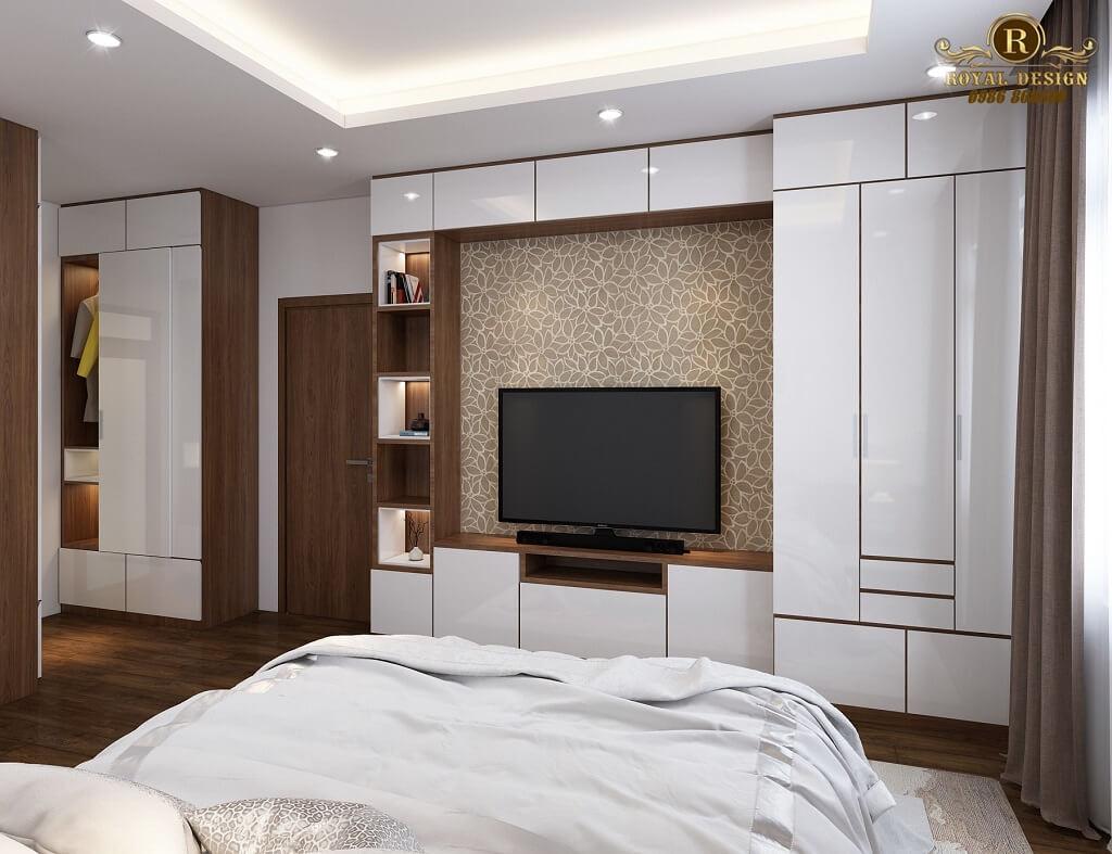 Phối cảnh 3D thiết kế nội thất tầng 2 phòng ngủ con03