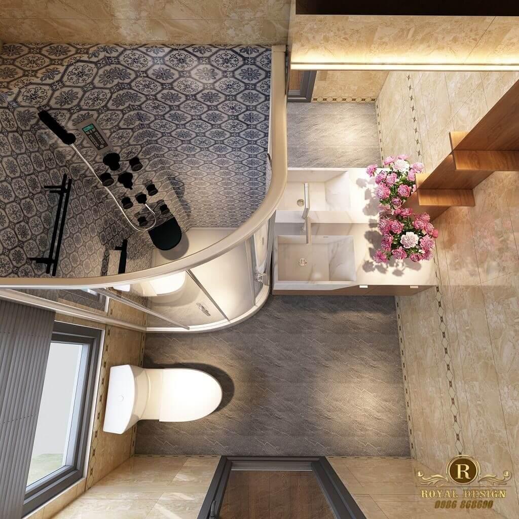 Phối cảnh 3D thiết kế nội thất tầng 2 phòng wc03