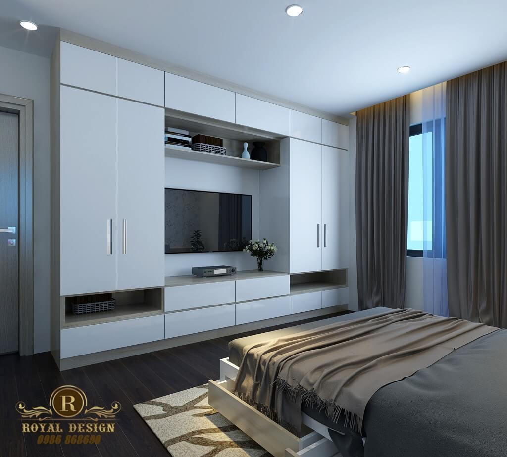Phối cảnh 3D thiết kế nội thất tầng 3 phòng ngủ con03