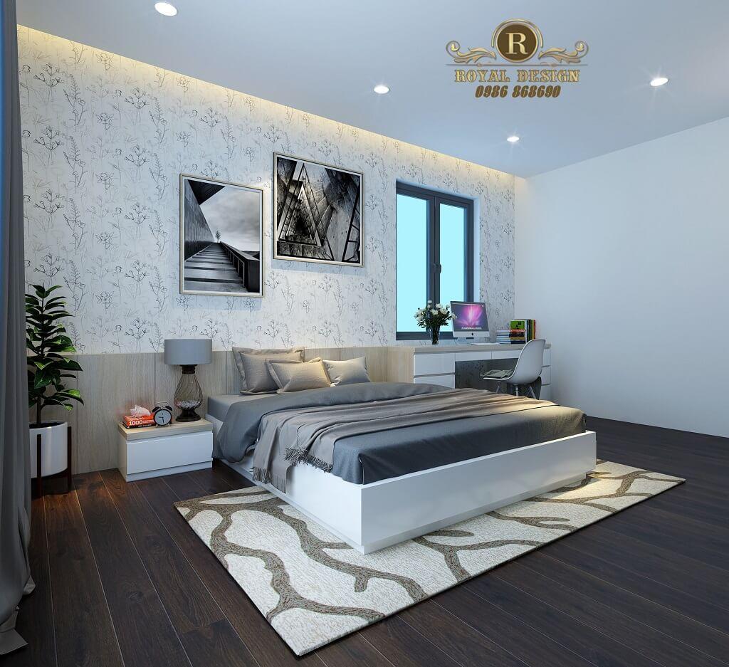 Phối cảnh 3D thiết kế nội thất tầng 3 phòng ngủ con02