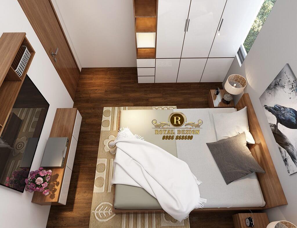 Phối cảnh 3D thiết kế nội thất tầng 3 phòng ngủ con07