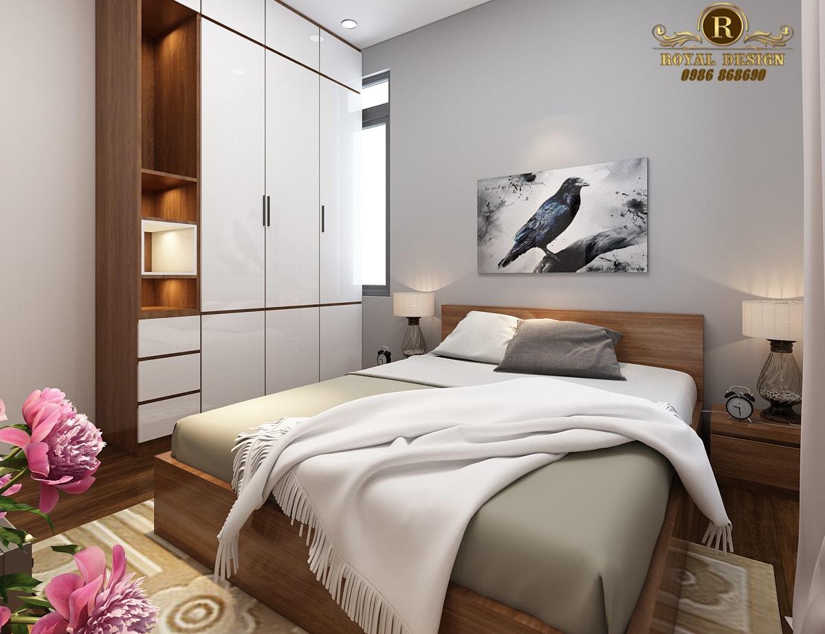 Phối cảnh 3D thiết kế nội thất tầng 3 phòng ngủ con05