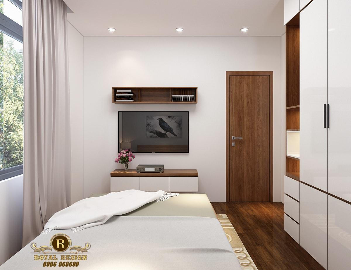 Phối cảnh 3D thiết kế nội thất tầng 3 phòng ngủ con04