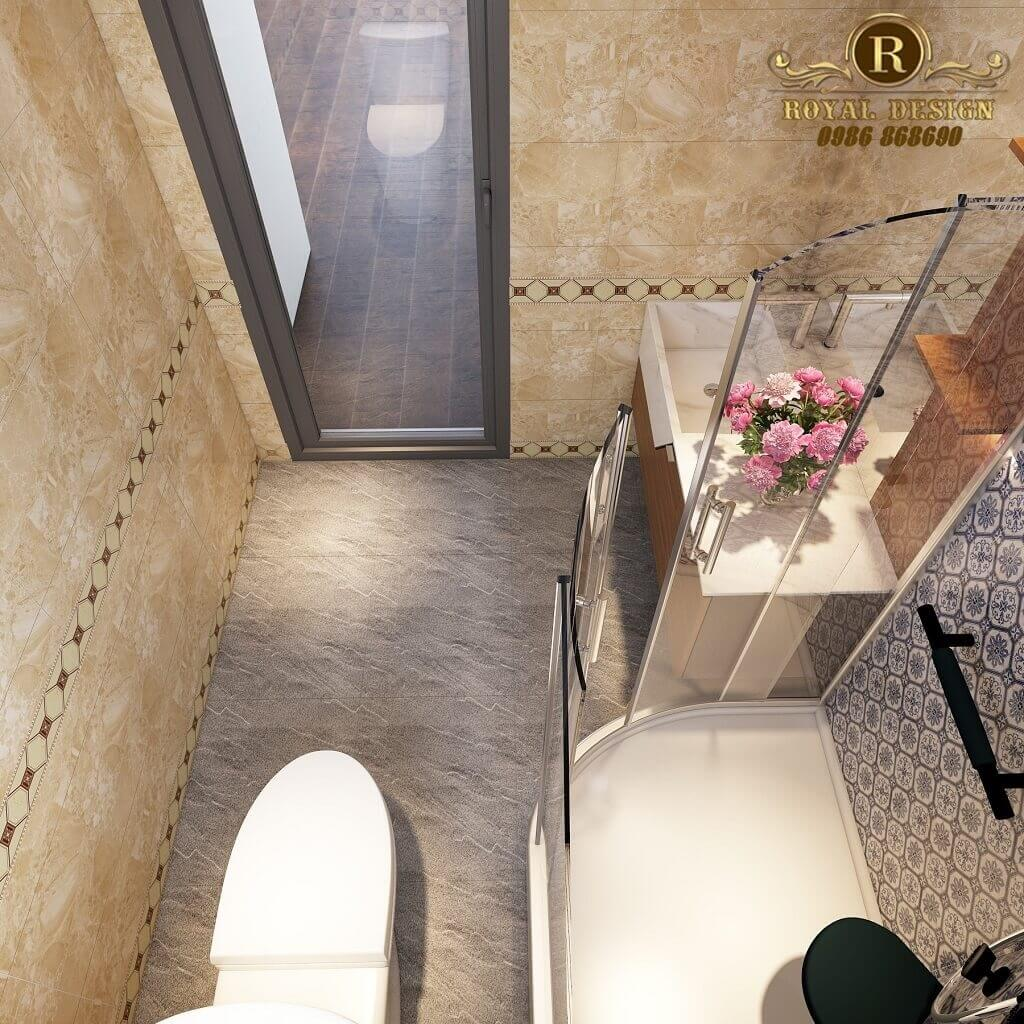 Phối cảnh 3D thiết kế nội thất tầng 3 phòng wc02
