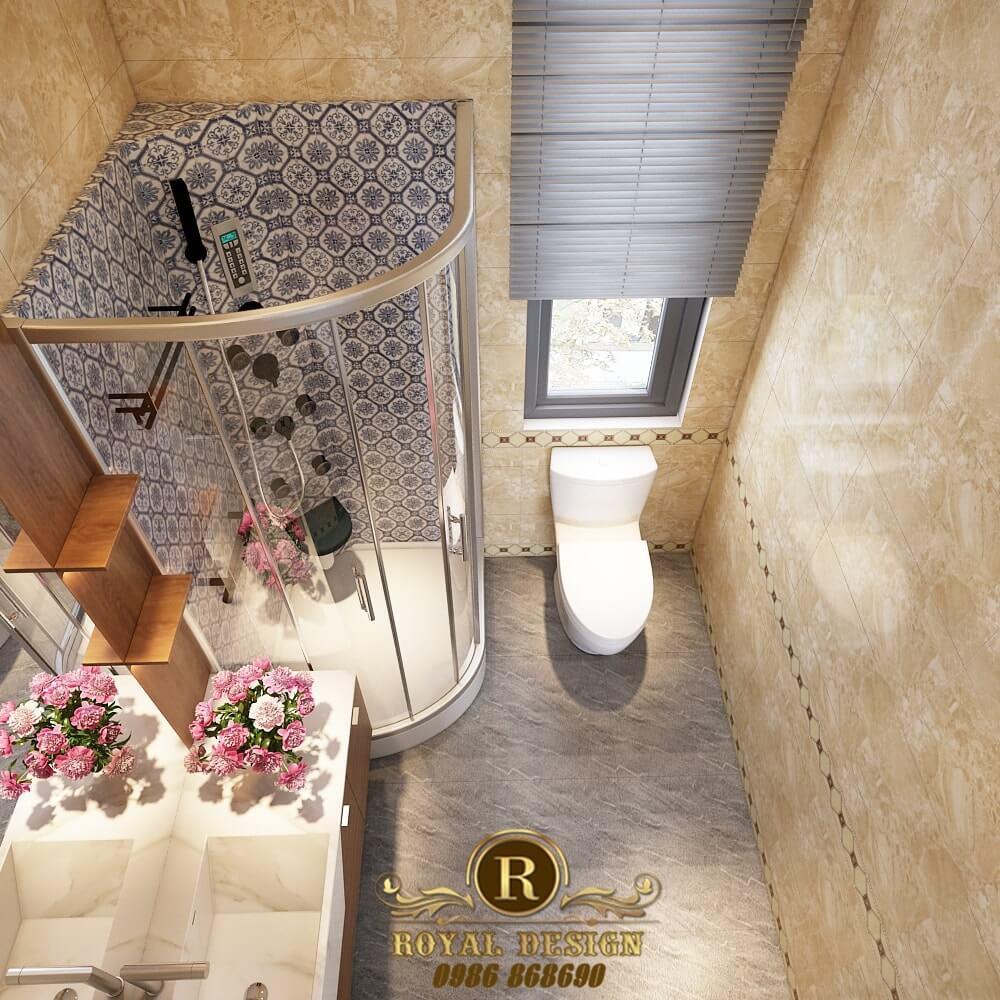 Phối cảnh 3D thiết kế nội thất tầng 3 phòng wc