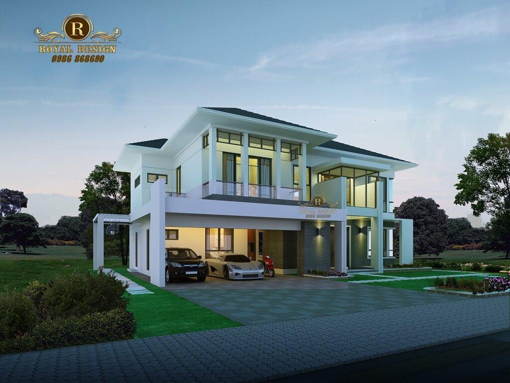 Mẫu thiết kế Biệt thự 2 tầng mái Thái 1