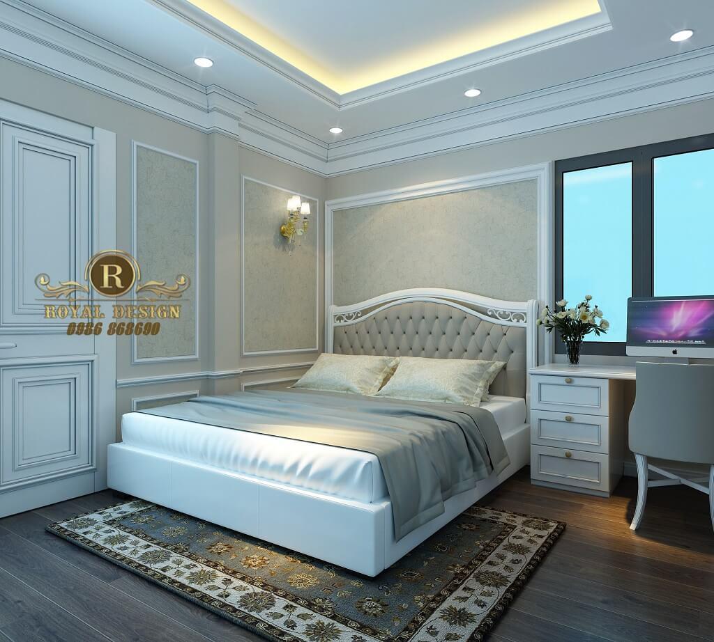 Giường ngủ bé trái tân cổ điển