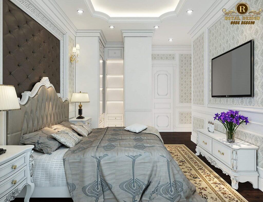 Phòng ngủ ông bà cổ điển