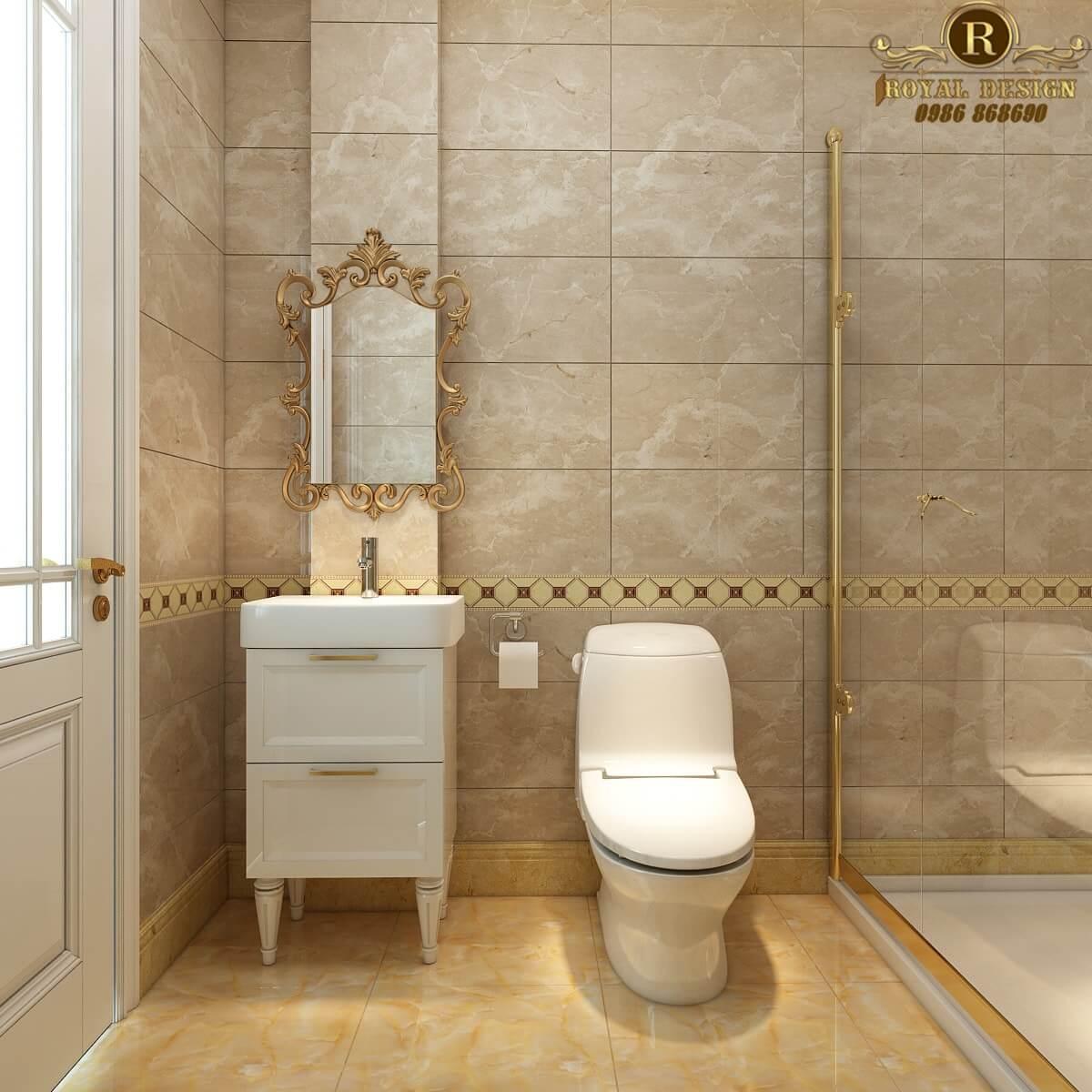Nội thất phòng tắm tân cổ điển Vinhome Thăng Long