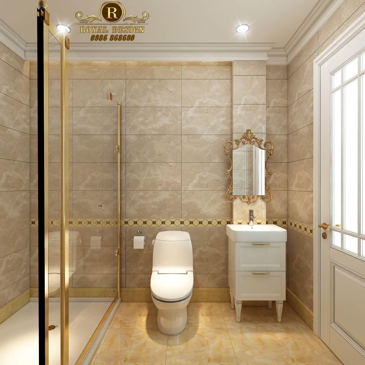 Thiết kế nội thất phòng tắm tân cổ điển