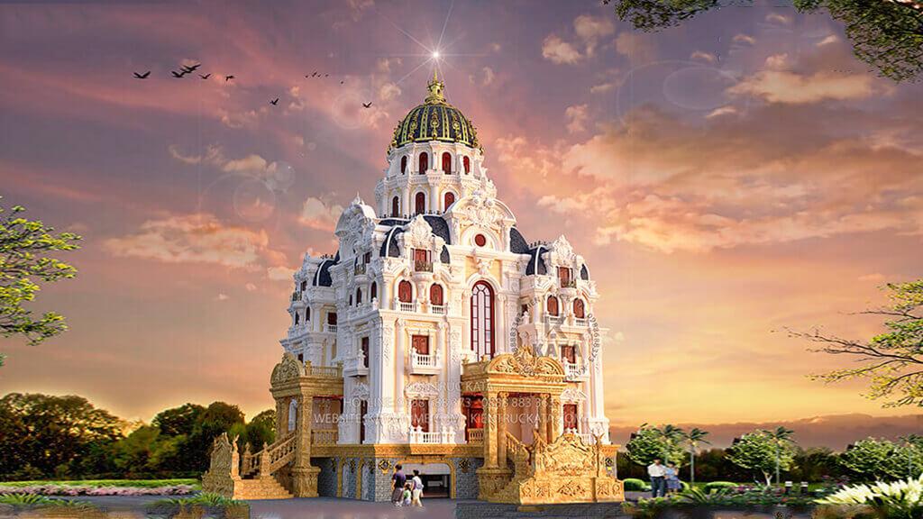 Mẫu lâu đài dinh thự đẹp tại kiến trúc ROYAL