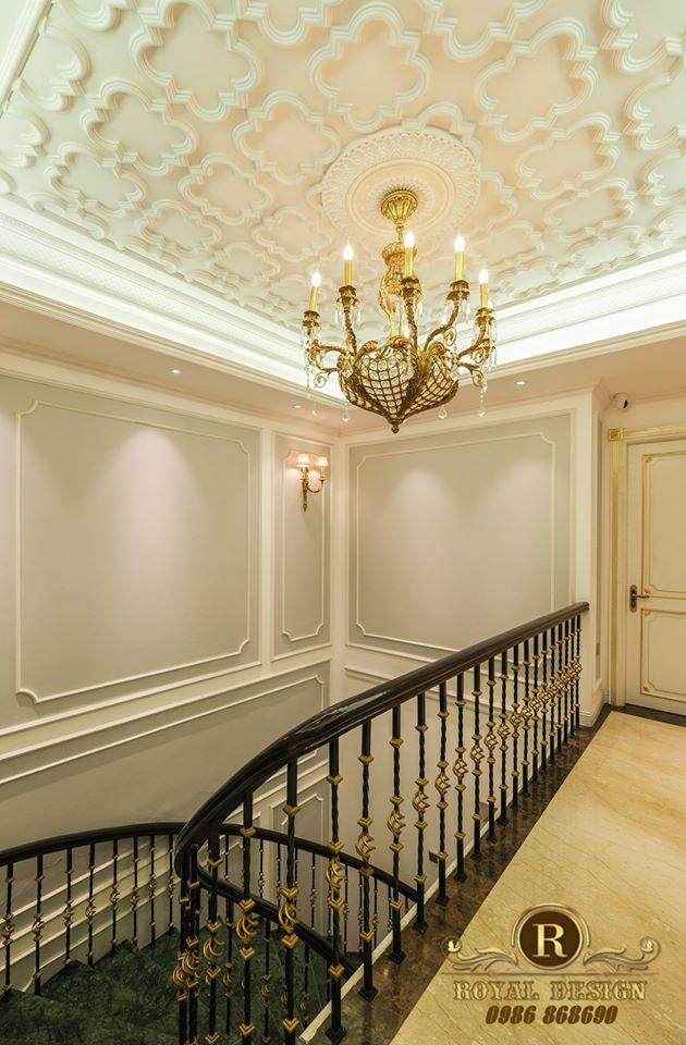 đèn chùm phong cách luxury