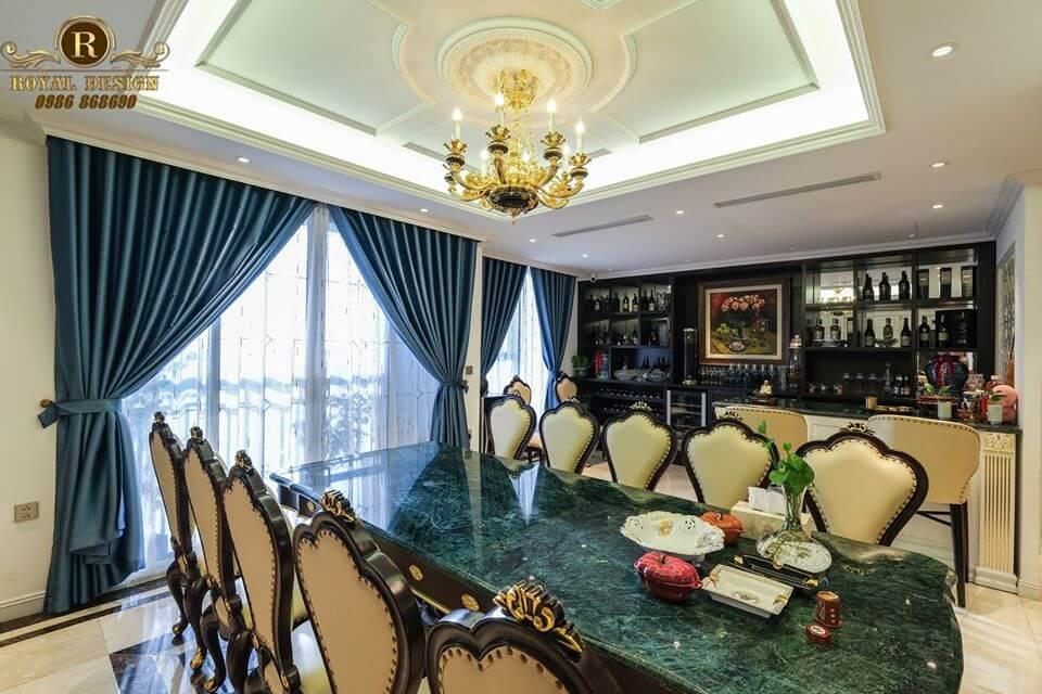 Bàn ghế ăn phong cách luxury