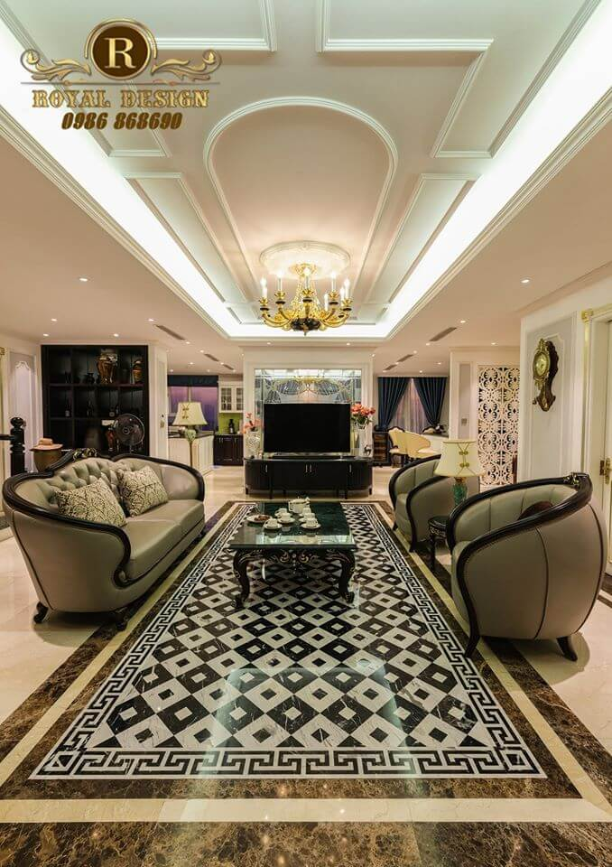 Phòng khách phong cách Luxury
