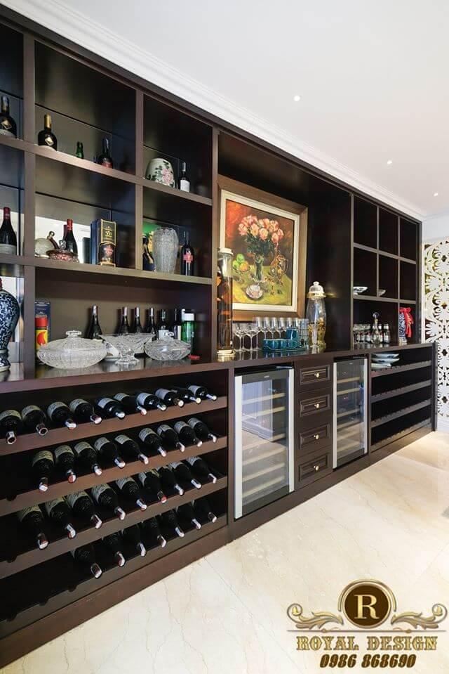 Thiết kế tủ đựng rượu