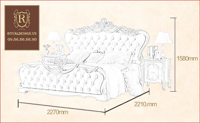 Giường ngủ Tân Cổ Điển 001-11