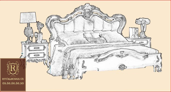 Giường Ngủ Tân Cổ Điển 004-5