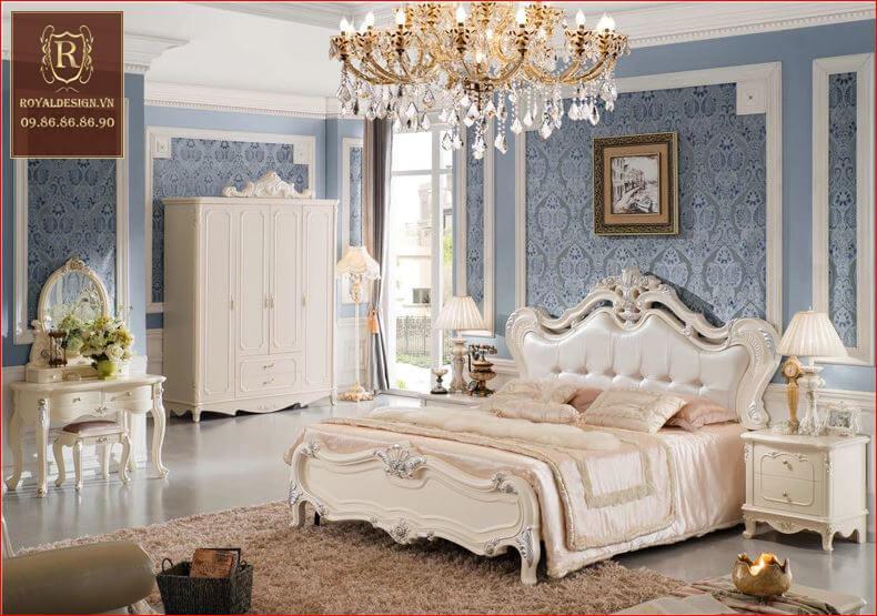 Giường Ngủ Tân Cổ Điển 008-3