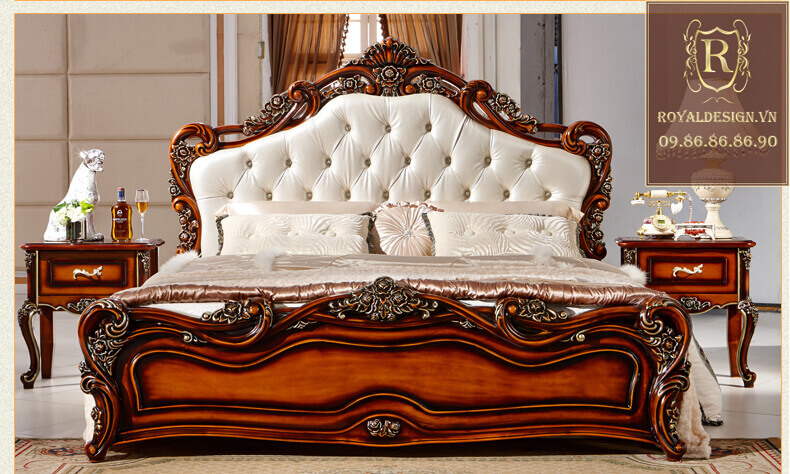 Giường ngủ Tân Cổ Điển 016