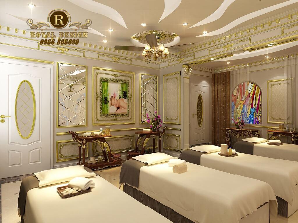 không gian phòng spa 1 của spa milan được thiết kế theo phong cách tân cổ điển