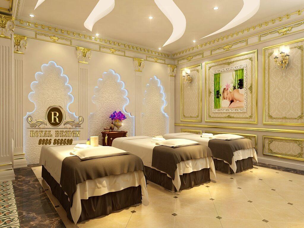 Thiết kế đầu giường nằm spa của spa milan theo phong cách tân cổ điển